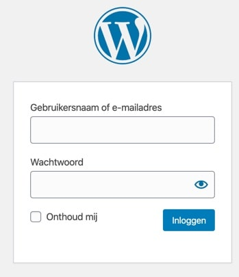 WordPress-inloggen