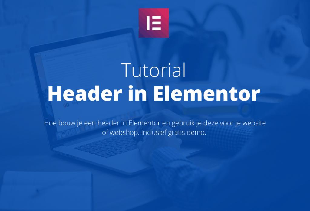 custom header in elementor